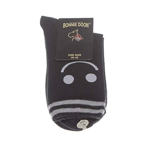 Bonnie Doon Socke mittelhoch - 1 paar - Fußrücken anziehen - Humor - Coton - Noir - smile sock - 36/42