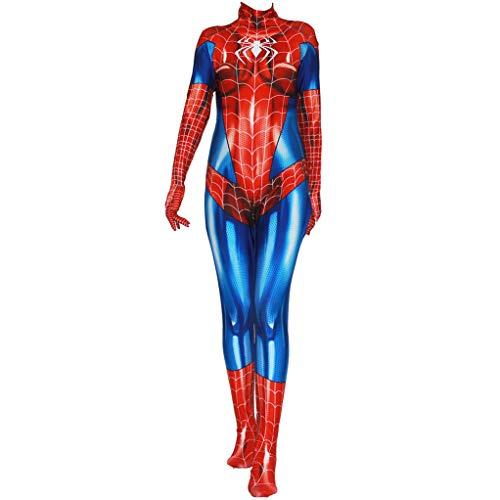 LGYCB Mujer Hombre Araa De Cosplay del Mono The Amazing Spider-Man Superhero Juegos De rol Trajes De Halloween del Traje del Funcionamiento De La Mascarada Body, Spiderman-Adult XXXL(180~185cm)