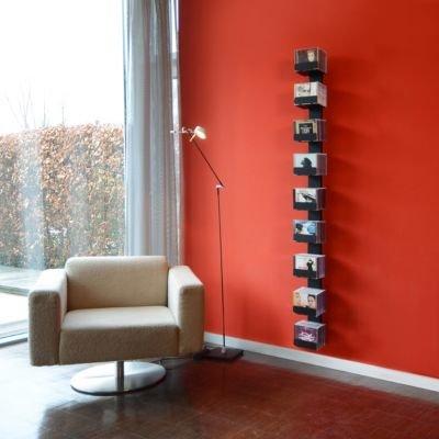 Radius CD-Baum Regal schwarz Wand 2 groß 727 A