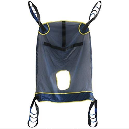 WHYTT Handicap Patienten Sling Lifter Toilettengang Schlinge Mit Commode Ausschnitt Ganzkörper-Sling Medical Lift Equipment