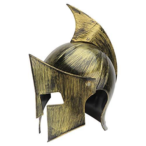 SOIMISS Casco Medieval Dorado para Nios Adultos Cuernos de Guerrero Vikingo Sombrero de Plstico Armadura Medieval Disfraz Fiesta Cosplay Accesorio para La Cabeza