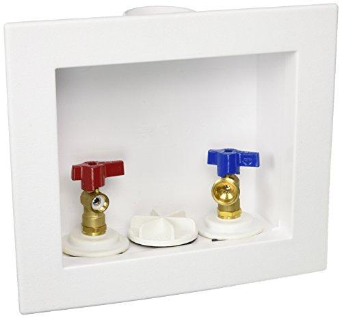 "Oatey 38529 Quadtro Washing Machine Outlet Box Copper Sweat Tail Piece, 1/4"" Turn, 2"" Hub"