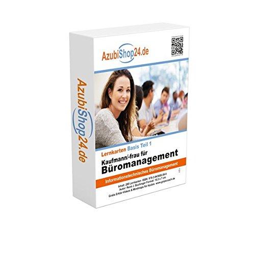 Lernkarten Kaufmann / Kauffrau für Büromanagement (Teil 1) Prüfung: Prüfungsvorbereitung Kaufmann / Kauffrau für Büromanagement Prüfung AzubiShop24.de