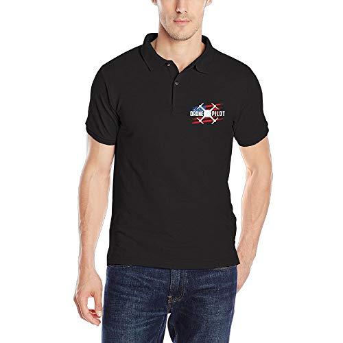 Drone Pilot USA Flag2 Mens Short Sleeves Polo T Shirt