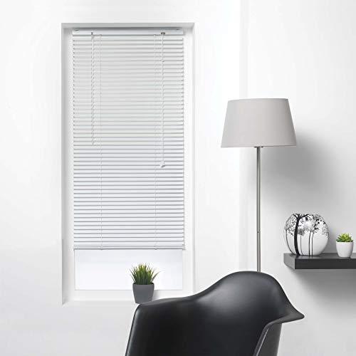 Jalousie, Lamellen, 50 x 180 cm, Aluminium, Weiß