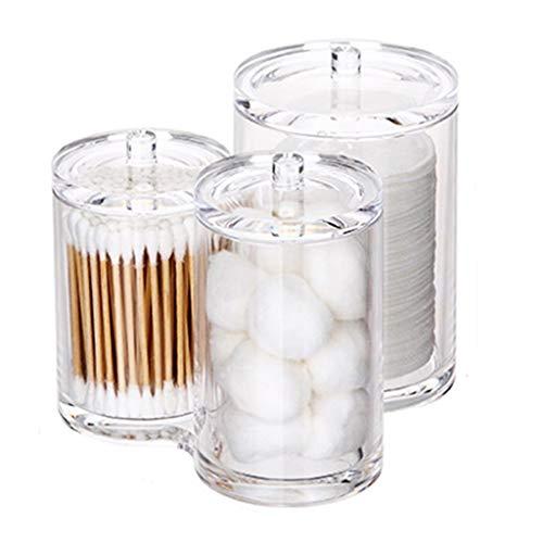 Coffres de rangement Boîte de Rangement en Acrylique Bureau de Rangement pour cosmétiques Boîte de Coton-Tige Boîte pour cosmétiques Transparente (Color : Clear, Size : 15.2 * 13.1 * 12.7cm)
