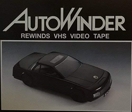 Kinyo AutoWinder VCR Tape Rewinder with Video Head Cleaner - Black