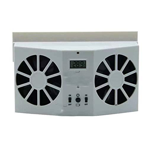 Gizayen Portable Car Quiet Air Conditioner Solar Cooling Fan Auto Truck Vehicle Cooler Energy Saving