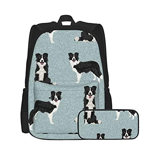 Asual - Mochila y estuche para lápices, combinación de bolsa para ordenador portátil y estuche, mochila de trabajo y estudio y bolsa de cosméticos, combinación de borde, colcha para mascotas