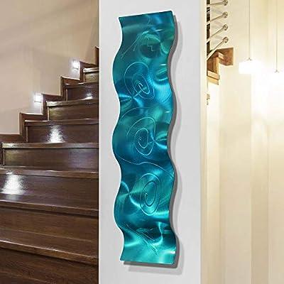 "Statements2000 3D Abstract Metal Wall Art Sculpture Wave - Modern Home Décor by Jon Allen - 46.5"" x 6"" by Statements2000"