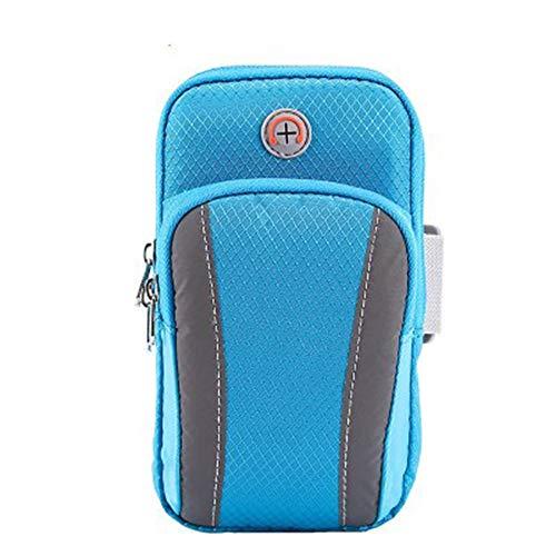 Brazalete deportivo para teléfono móvil, bolsa de brazo para exteriores, bolsa de correr, para hombres y mujeres, equipo de buceo (color azul)