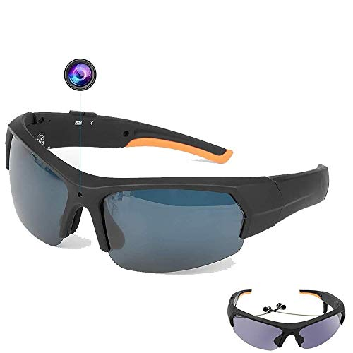 Occhiali da vista Bluetooth 1080P HD Telecamere spia ricaricabili occhiali da sole per fotocamera mini videoregistratore portatile nascosto sport all'aperto fotocamera occhiali video e foto, 32G