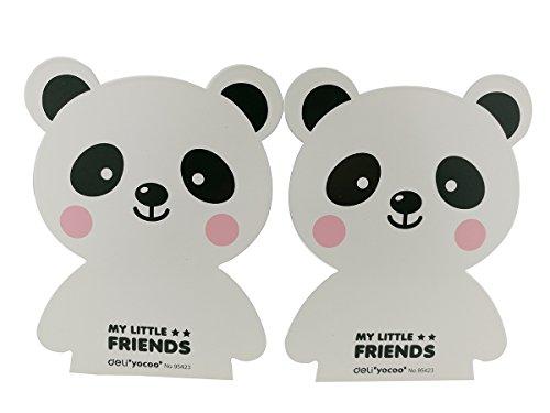 Winterworm Serre-livres antidérapants en métal lourd avec joli motif d'ours pour enfants (blanc)
