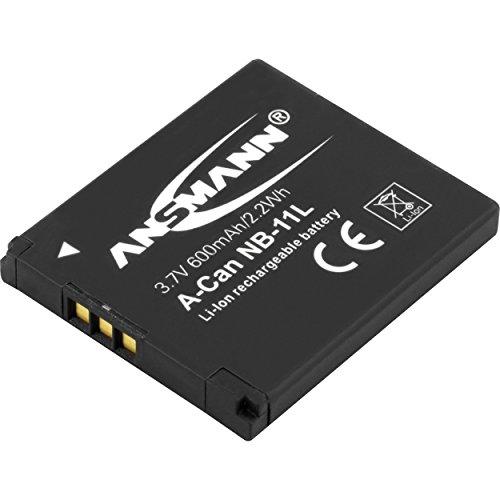 ANSMANN Li-Ion Akku A-Can NB 11 L 3 7V / Typ 600mAh / Leistungsstarke Akkubatterie für Foto Digitalkameras - der perfekte Ersatzakku für Canon Digicam uvm.