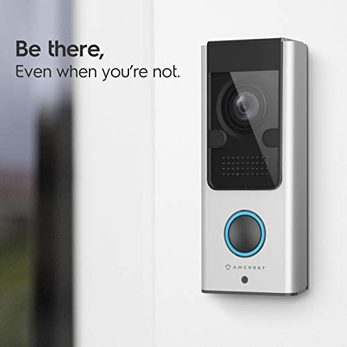 Amcrest 1080P Video Doorbell Camera Pro, Outdoor Smart Home 2.4GHz Wireless WiFi Doorbell Camera, Micro SD Card, PIR Motion Detector, RTSP, IP55 Weatherproof, 2-Way Audio, 140º Wide-Angle Wi-Fi AD110