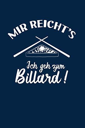 Snooker: Ich geh zum Billard: Notizbuch / Notizheft für Pool-Billard 8 9 Ball Billard-Spiel A5 (6x9in) dotted Punktraster