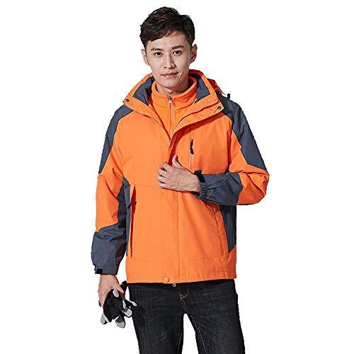 Softshell Jacket Unisex Jacke Wasserdicht Funktionsjacke 3 in 1 Two-Piece Abnehmbar Fleecejacke Winterjacke H-M