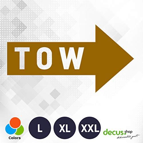 Decus Tow Abschlepp Pfeil Rally XXL 0002 (braun) // Sticker OEM JDM Style Aufkleber