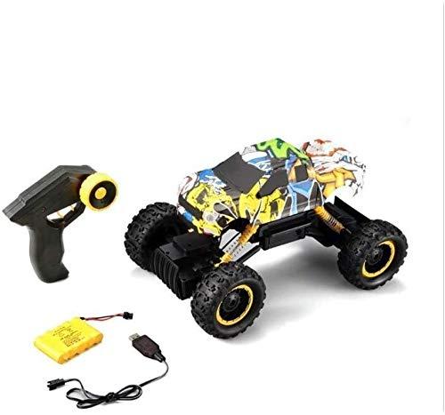 ZHLFDC Uno y doce Off-Road Escalada Modelo del vehículo RC Truck Bigfoot bicicleta de montaña recargable del juguete del coche eléctrico inalámbrico Racer Jeep primavera Amortiguador regalo de juguete