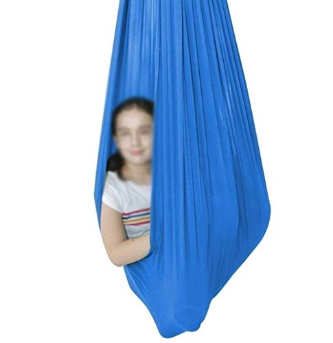 Raindrop Sensory Swing Outdoor Yoga Hammock Indoor Hanging Therapy For Kids With Special Needs Autism ADHD Aspergers Integration (Color : Sky blue, Size : 100x280cm/39x110in)