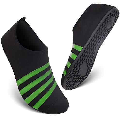 HEETA Barefoot Water Sports Shoes for Women Men Quick Dry Aqua Socks for Beach Pool Swim Yoga Dot_Red XXL