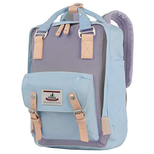"vicnunu Backpack 14"" Waterproof Laptop Backpack for College & Student 15"" Vintage Travel Backpacks for Women & Men(DLB-4)"