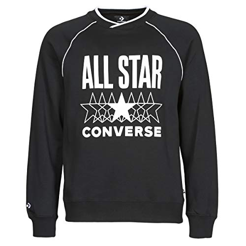 Converse All Star Crew Sweatshirts Und Fleecejacken Herren Schwarz - S - Sweatshirts Sweater