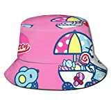 Bucket Hat Hello Kitty Baby Shower Printed Packable Summer Outdoor Cap Sun Fishing Boonie Hats Black