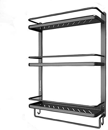 MENG Badregal Shelf Schlags-Free Space Aluminium Badezimmer Küche Rack-Badezimmer-Anhänger Badezimmer-Rack Handtuchwärmer Haltbar, Größe: 53 * 15 * 66cm Duschraum Sims (Size : 53 * 15 * 66cm)
