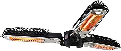 QIQI Outdoor Electric Patio Umbrella Heater, P34 Protection Folding Infrared Radiant Heater for Garden Pergola Gazabo Parasol,Black