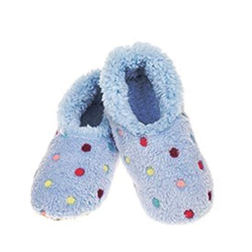 Snoozies Lotsa Dots Ladies Sherpa Fleece Slippers with Soft Non-Slip Sole ,...