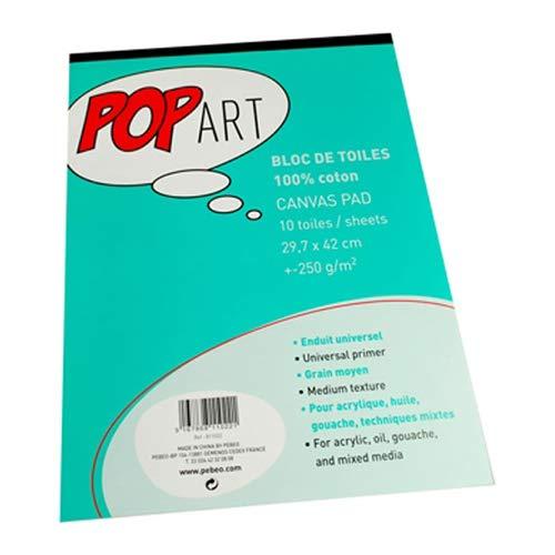 Pebeo 41815 blok canvas Pebroc Pop Art katoen schilderij A3 297 x 420 mm papier gesorteerd