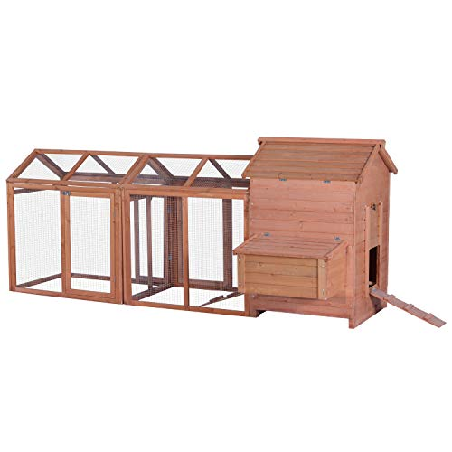 Lovupet Outdoor Wooden Chicken Coop Nest Box Hen House Cage Poultry Pet Hutch Garden Backyard Cage 0319