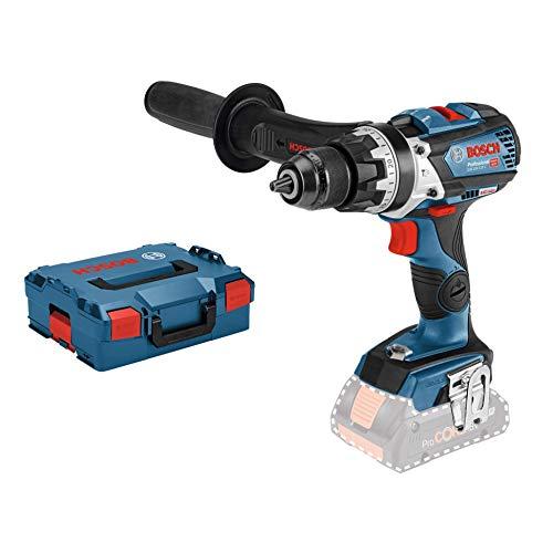 Bosch Professional - Taladro percutor inalámbrico con sistema de 18V GSB 18V-85 C (par máx: 110 Nm, Ø de perforación máx : madera / acero / mampostería 82/13/16 mm, sin baterías ni cargador)