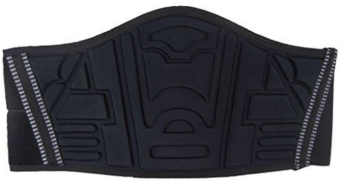 Ledershop-online BANGLA Motorrad Nierengurt Nierenschutz Rückenwärmer Unisex mit breitem Klettverschluss schwarz M