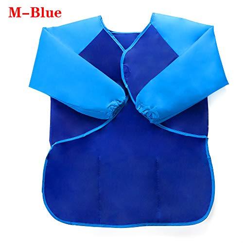 maylace Kinder Malschürze, Baby Backen, Basteln, wasserfest, für Kinder, Malschürze, blau, M-Blue