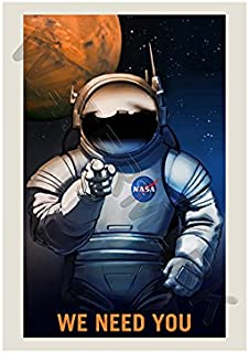 Wee Blue Coo NASA Poster Space Job Advert WE Need You 12x16 '' Print F12X11822