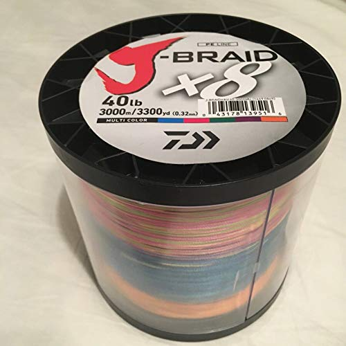 Daiwa J-Braid X8 0.10mm, 6kg/13,0lbs, 1500m multi colour - geflochtene Angelschnur
