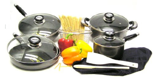 Concord 11-Piece Non-Stick Aluminum Cookware Set