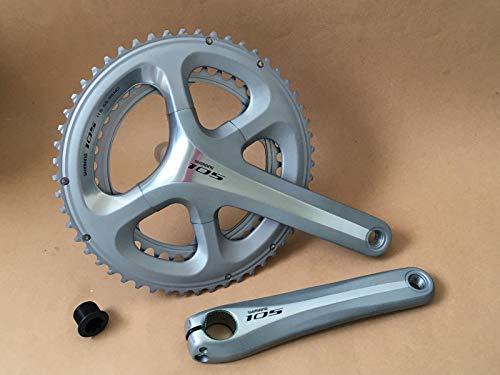SHIMANO - Guarnitura 105 FC-5800 2 x 11, 53/39 Z, 172,5 mm, argento