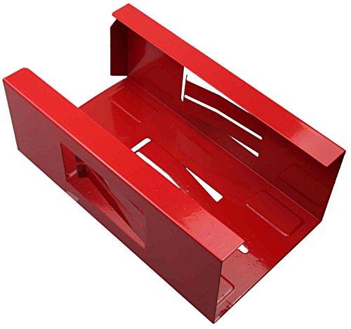Magnetischer Halter für Einweghandschuhe und Taschentuch-Box/Handschuhhalter (Handschuhspender o. Taschentuchspender) ROT