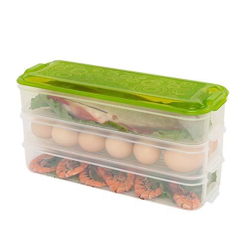 XGQ Plastic Multi-Layer Food Storage Box Contenedor de conservación de refrigerador de Cocina, Entrega de Color Aleatorio