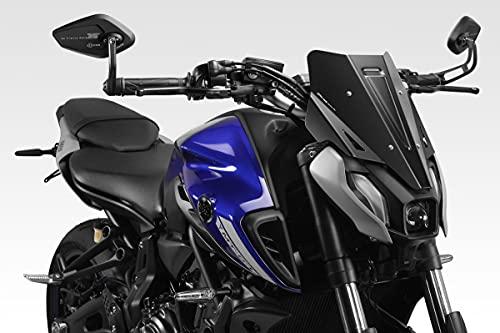 MT 07 FZ07 2021 - Windschutzscheibe 'Warrior' (R-0946) - Aluminium Windschild Windabweiser Scheibe - Hardware-Bolzen Enthalten - Motorradzubehör De Pretto Moto (DPM Race) - 100% Made in Italy