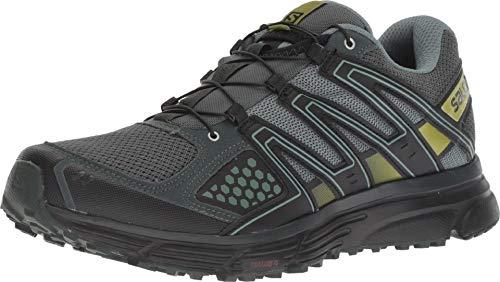 Salomon X-Mission 3, Zapatillas de Trail Running para Hombre, Verde (Urban Chic/Black/Guacamole), 43 1/3 EU