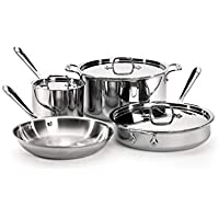 All-Clad Stainless Steel 7-Piece Cookware Set