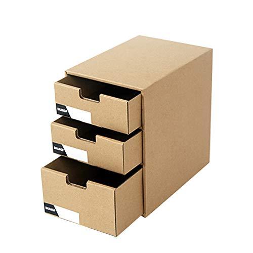 KINJOHI Datei Organizer Schubladenbox Pappe Bürobox Zeitschriftenhalter Dokumente Organizer Aufbewahrungsbox