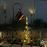 turkey Gießkanne, Sternendusche Gartenkunst Lichtdekoration Garten Gartenrampe, LED-Lichterketten, Lustige Kunst, Gartenskulpturen & Statuen, Lichterketten für den Außenbereich (Without Eisenständer)