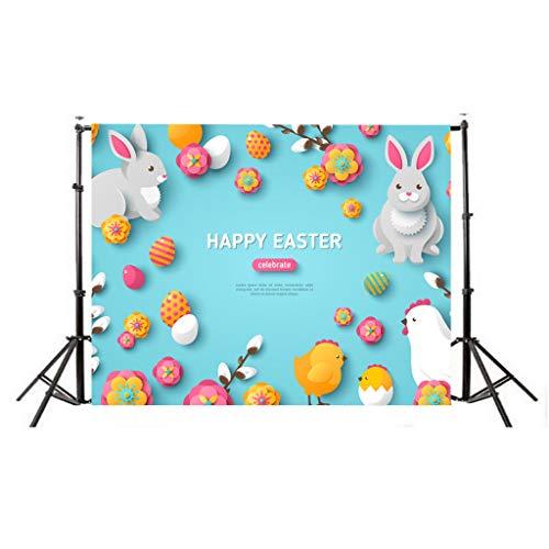 Watopi Cartel de tela de Pascua Conejo de Pascua Foto Booth Decoración de Pascua Fondo Banner Fiesta Estudio Fotografía Fondo