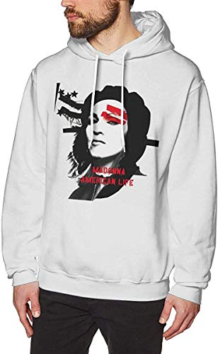 Henrnt Herren Kapuzenpullover Adult Men's Long Sleeve Hoodie Sweatshirt Madonna USA Life Hooded Sweater Black