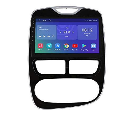 hizpo 2+32GB Android 10 Autoradio Compatible con Renault Clio 2012-2016 GPS Bluetooth Manos Libres Control del Volante Wi-Fi Dab+ Enlace de Duplicación /FM Radio/MP3/USB/OBD2